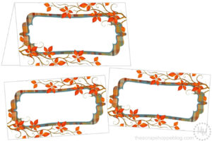 Perfectly Plaid Thanksgiving Place Cards – The Scrap Shoppe intended for Thanksgiving Place Cards Template