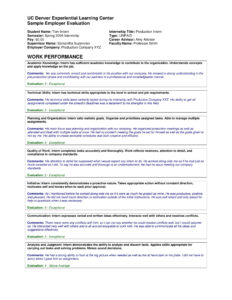 Performance Summary Examples In Pdf | Examples with regard to Evaluation Summary Report Template