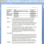 Period End Review And Closing Policy And Procedure Word Template Inside Training Manual Template Microsoft Word