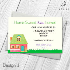 Personalised Home Sweet Home Change Of Address Cards In 2019 With Regard To Free Moving House Cards Templates