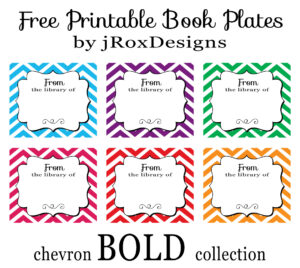 Personalized Your Library With Free Printable Chevron Book throughout Bookplate Templates For Word