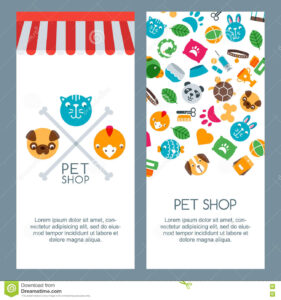 Pet Shop, Zoo Or Veterinary Banner, Poster Or Flyer Template with regard to Zoo Brochure Template
