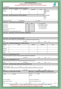 Petronas Carigali Permit To Work Procedure Petronas Carigali regarding Electrical Isolation Certificate Template