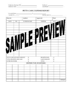 Petty Cash Expense Report For Film Or Tv Production in Petty Cash Expense Report Template