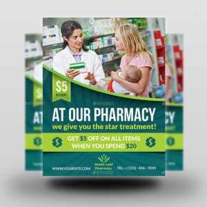 Pharmacy Flyer Template Vol.3 in Pharmacy Brochure Template Free