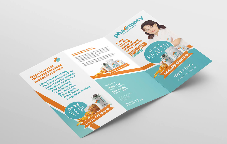 Pharmacy Tri Fold Brochure Template - Psd, Ai & Vector With Pharmacy Brochure Template Free
