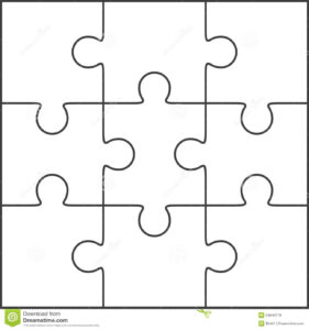 Photo About Jigsaw Puzzle , Blank Simple Template 3X3 within Jigsaw Puzzle Template For Word