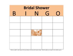 Photo : Baby Bingo Shower Blank Image in Blank Bridal Shower Bingo Template