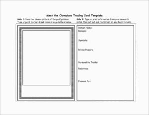 Photo Card Template Free Elegant Place Card Template Free inside Free Trading Card Template Download