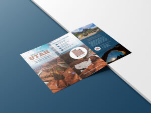 Photo Centric Outdoor Travel Brochure Idea – Venngage throughout Welcome Brochure Template