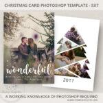 Photo Christmas Card Template, Christmas Tree Card Template Intended For Christmas Photo Card Templates Photoshop