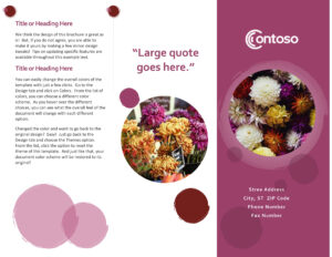 Photo Travel Brochure for Word Travel Brochure Template