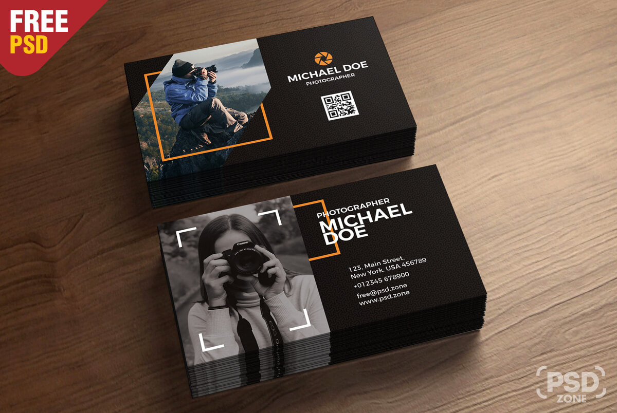 Photography Business Cards Template Psd - Psd Zone Within Photography Business Card Template Photoshop