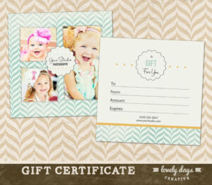 Photography Gift Certificate Template For Professional In Photoshoot Gift Certificate Template