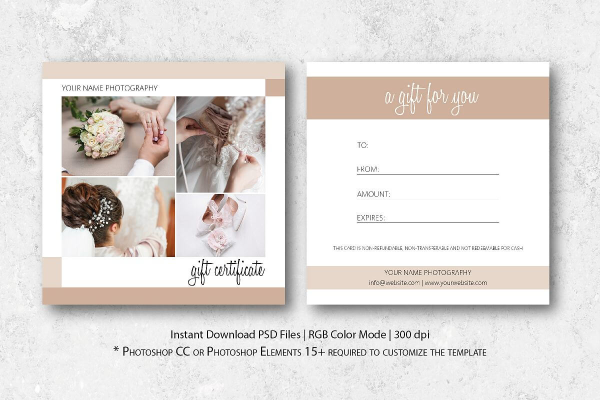 Photography Gift Certificate Template Within Gift Certificate Template Photoshop