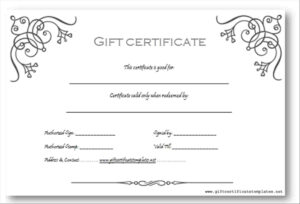 Photography Gift Certificate Template Word for Free Photography Gift Certificate Template