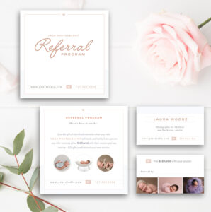 Photography Referral Card, Photoshop Template, Referral Program, Tell A  Friend, Photographer Templates – Instant Download! regarding Photography Referral Card Templates