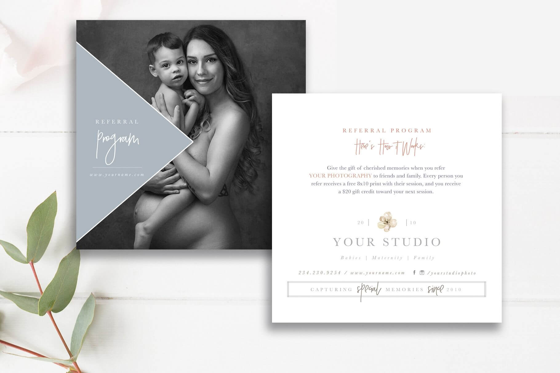 Photography Referral Card Template, Referral Program | In Photography Referral Card Templates