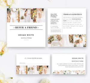 Photography Referral Card Template, Wedding Planner Referral Program,  Photoshop Templates, Instant Download! Intended For Referral Card Template