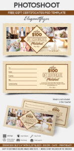 Photoshoot – Free Gift Certificate Psd Template On Behance Inside Photoshoot Gift Certificate Template