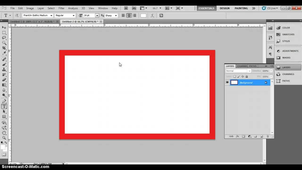 Photoshop Business Card Template With Bleeds & Correct Business Card  Dimensions Within Photoshop Business Card Template With Bleed