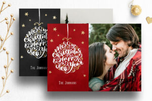Photoshop Christmas Card Template For Photographers – 012 for Holiday Card Templates For Photographers