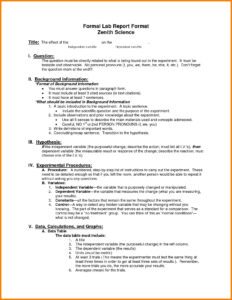 Physics Lab Report Template | Glendale Community for Lab Report Template Word