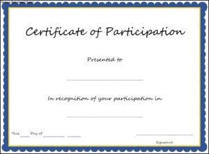Pin Oleh Joko Di Certificate Template regarding Certificate Of Participation Template Word