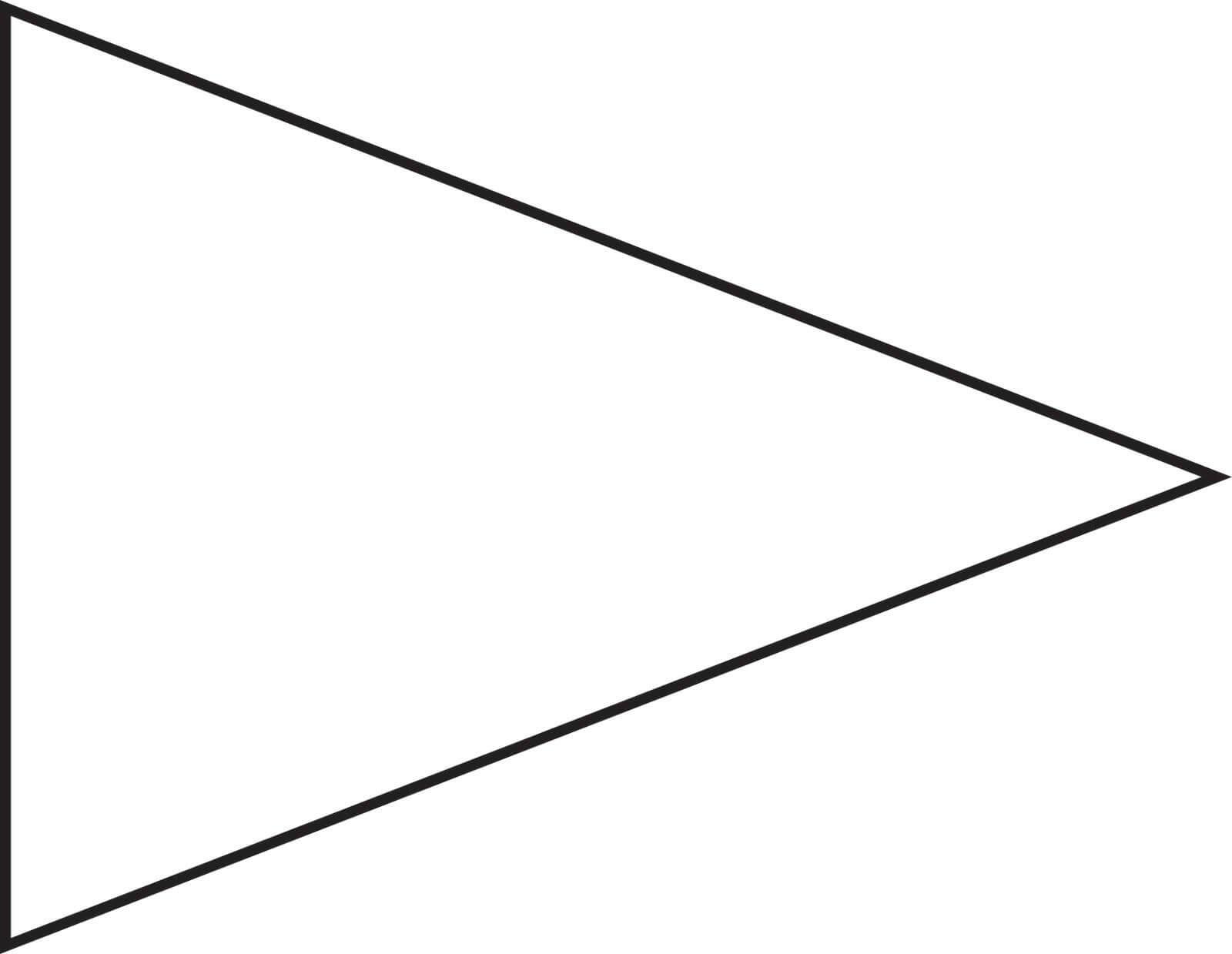 Pin Triangle Flag Outline Clip Art Vector Online Royalty For Free Triangle Banner Template