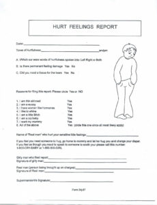 Pinamber Rollins On Diddles | Hurt Feelings, It Hurts for Hurt Feelings Report Template