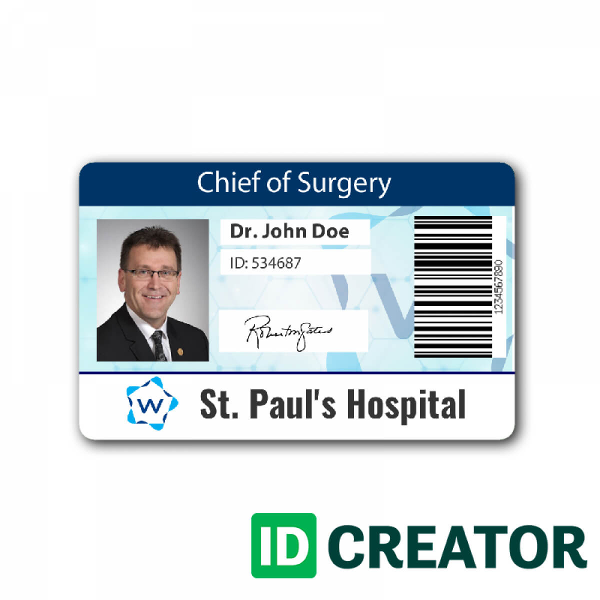Pinblue Heron On /en/ | Id Card Template, Name Badge For Hospital Id Card Template