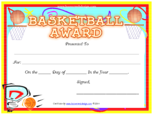 Pincrafty Annabelle On Basketball Printables within Swimming Certificate Templates Free