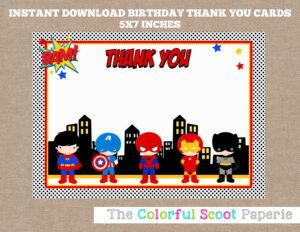Pindenise Walmsley On Volunteer Ideas | Superhero Thank with regard to Superhero Birthday Card Template