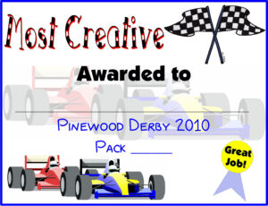 Pinewood Derby Certificates | Do Your Best! Cub Scouts | Cub with Pinewood Derby Certificate Template
