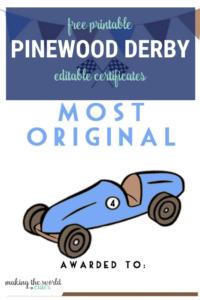 Pinewood Derby Certificates regarding Pinewood Derby Certificate Template
