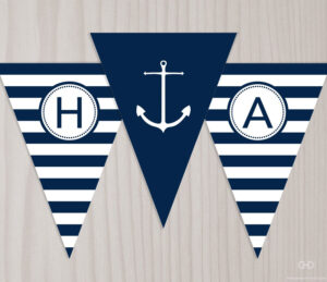 Pinjulie Winters On Nautical Party Ideas | Happy in Nautical Banner Template