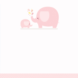 Pink Baby Elephant – Free Printable Baby Shower Invitation regarding Blank Elephant Template