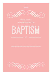 Pink Decorations – Free Printable Baptism & Christening throughout Free Christening Invitation Cards Templates