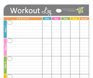 Pinkristy Winburn-Revels On School Planners & Supplies for Blank Workout Schedule Template