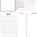 Pinmimi Stovall On Art Work In 2019 | Character Sheet In Bio Card Template