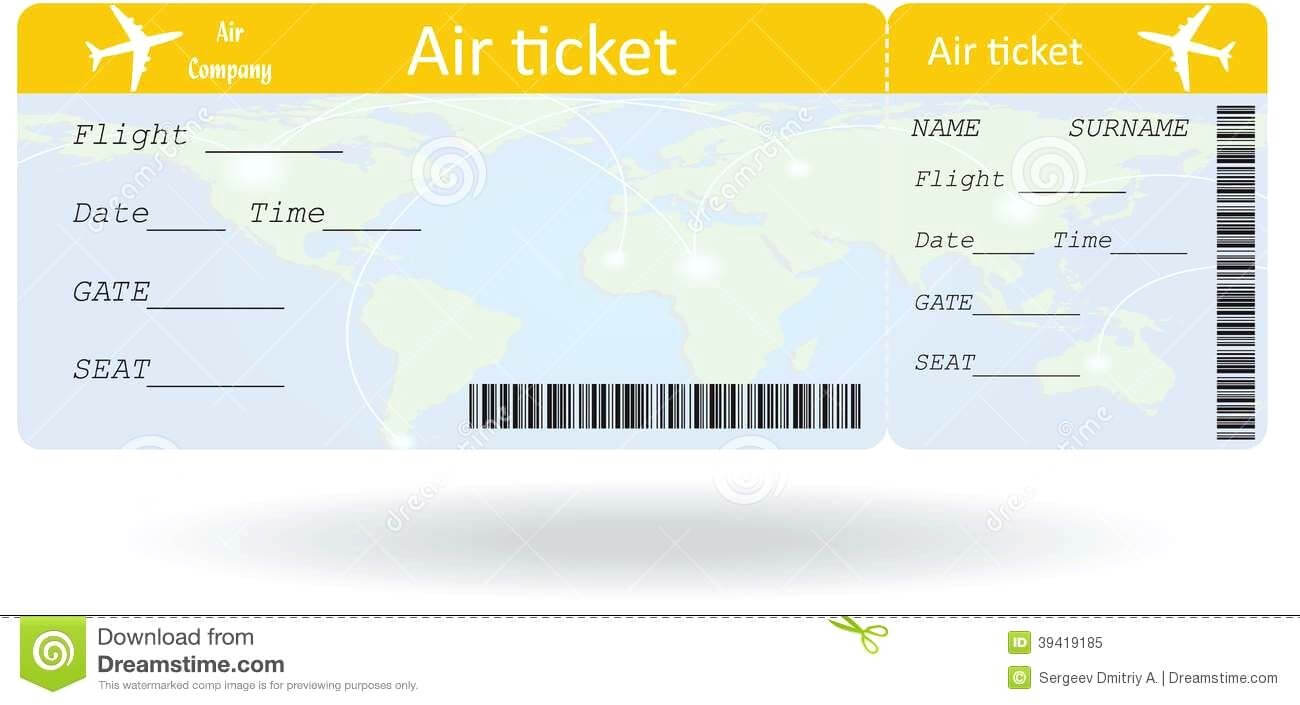 Pinpat Zema On French | Ticket Template, Ticket Template For Plane Ticket Template Word