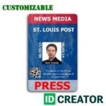 Pinrandell Fisco On Saved | Id Card Template, Id Creator in Media Id Card Templates