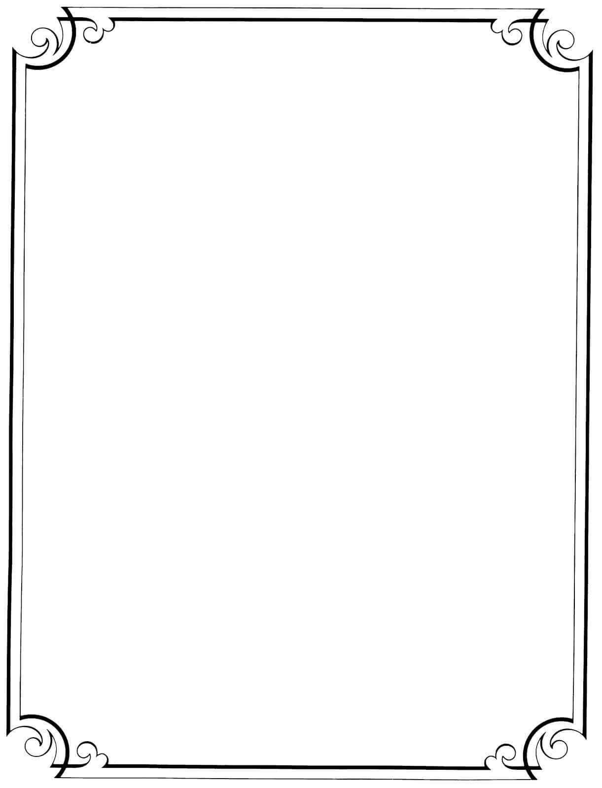 Pinrhea Shrestha On Drawings | Calligraphy Borders Regarding Word Border Templates Free Download