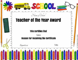 Pintiffany Ehlers On Avary | Certificate Of Appreciation intended for Best Teacher Certificate Templates Free
