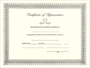 Pintreshun Smith On 1212   Certificate Of Appreciation regarding Army Certificate Of Completion Template