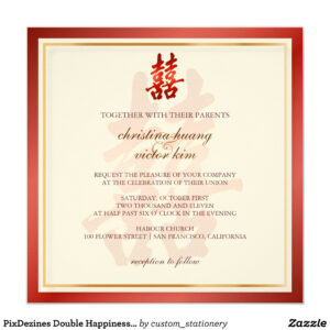 Pixdezines Double Happiness, Chinese Wedding Invitation pertaining to Church Wedding Invitation Card Template