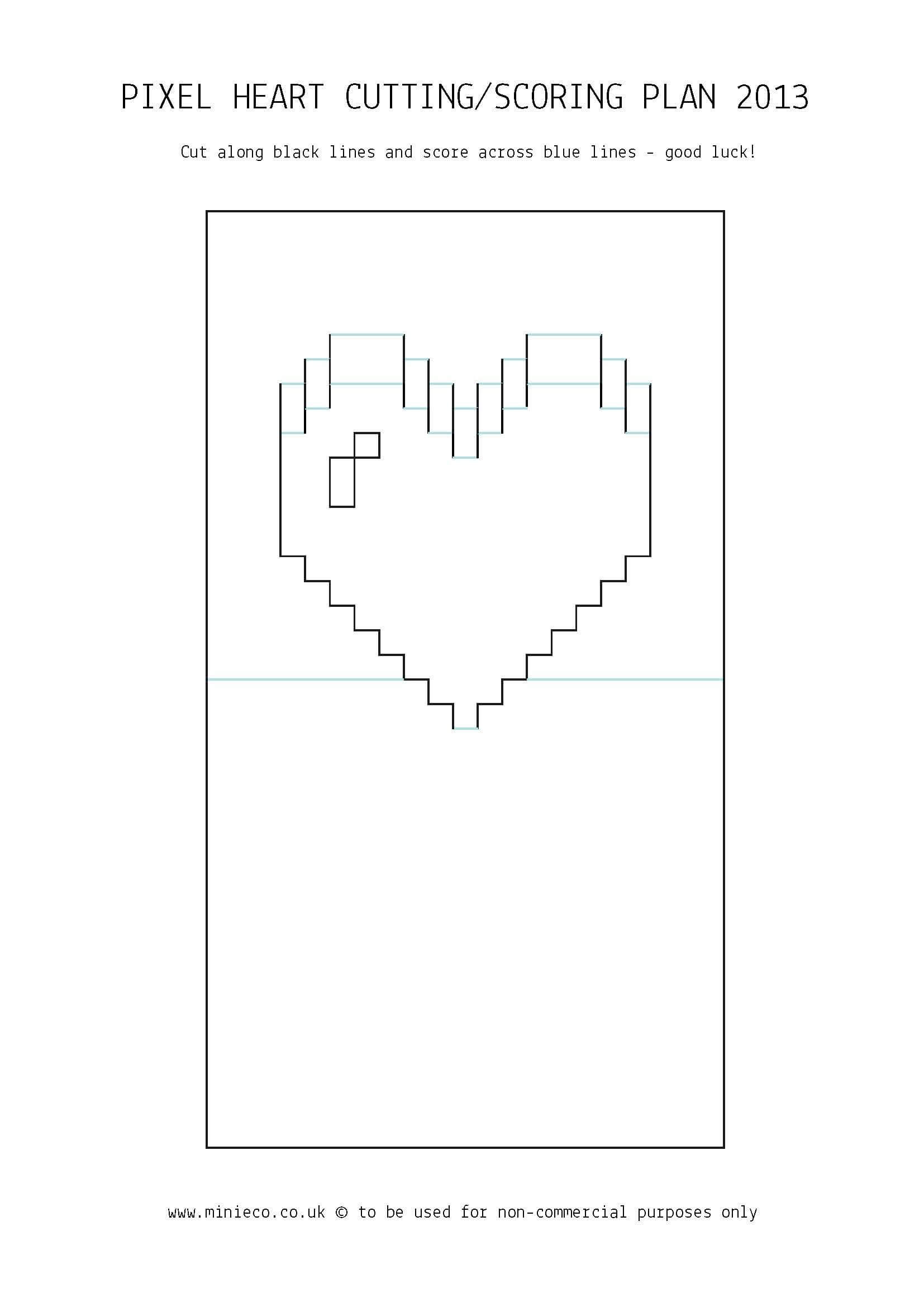 Pixel Heart Pop Up Card | 07. Crafts | Pop Up Card Templates Throughout Pop Out Heart Card Template