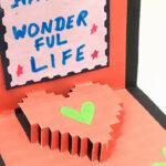 Pixel Heart Popup Card – Diy Tutorialpaper Folds – 968 Throughout Pixel Heart Pop Up Card Template