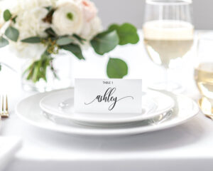 Place Card Settings, Instant Download || Editable Custom Wedding Escort  Cards Place Card Template Wedding Name Card Place Card Holder Ff2D pertaining to Place Card Setting Template
