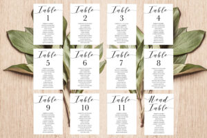 Place Card Template, Table Number Template, Seating Chart pertaining to Printable Escort Cards Template